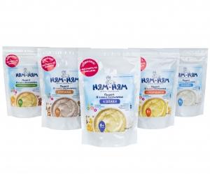 Дегустаційний набір Каша «Ням-Ням» швидкого приготування дитяче харчування для дітей віком від 6-ти місяців, 150 г (дой-пак)