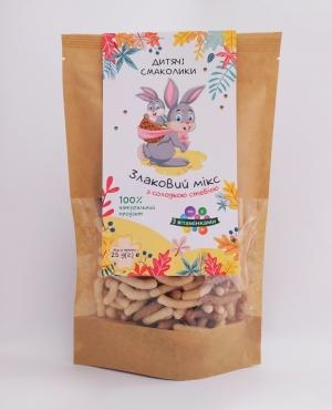 Сніданки сухі круп´яні. Круп´яні смаколики «Злаковий мікс з солодкою стевією та вітамінами», 25 г