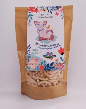 Сніданки сухі круп´яні. Круп´яні смаколики «Мультизлаки з чіа, солодкою стевією та вітамінами», 25 г