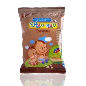 Каша «Ням-Ням» гречана швидкого приготування дитяче харчування для дітей віком від 6-ти місяців, 150 г