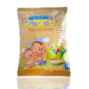 Каша «Ням-Ням» кукурудзяна швидкого приготування дитяче харчування для дітей віком від 6-ти місяців, 150 г